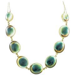 Antique Operculum Shell Gold Necklace