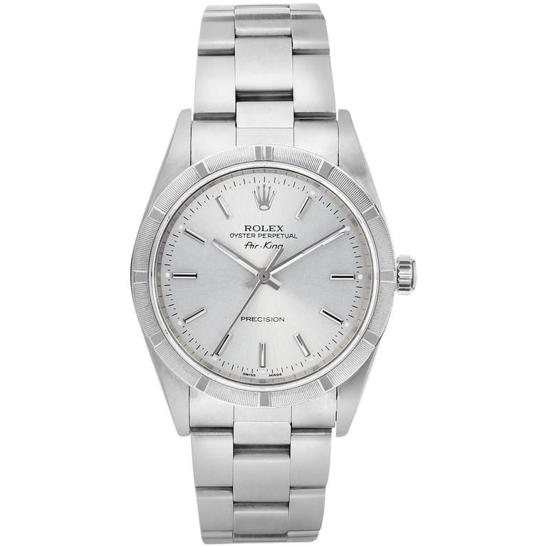 Rolex Stainless Steel Oyster Perpetual Air King Automatic Wristwatch 1