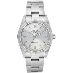Rolex Stainless Steel Oyster Perpetual Air King Automatic Wristwatch