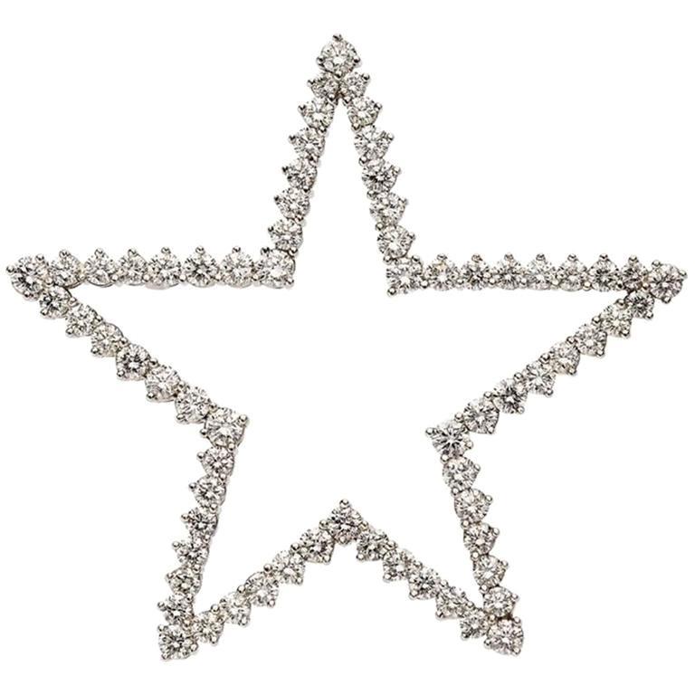 Tiffany & Co. Diamond Platinum Star Brooch