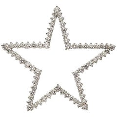 Tiffany & Co. Diamond Platinum Star Brooch