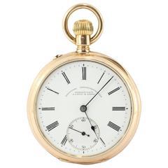 A. Lange & Sohne Glashutte Yellow Gold German Pocket Watch c1897
