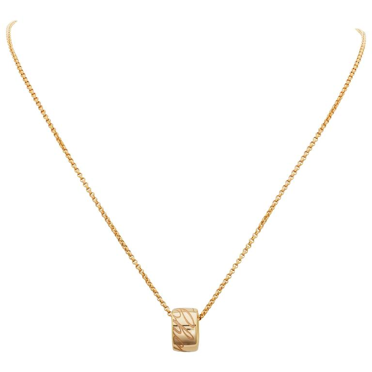 Chopard Chopardissimo Pendant Necklace 18k Rose Gold