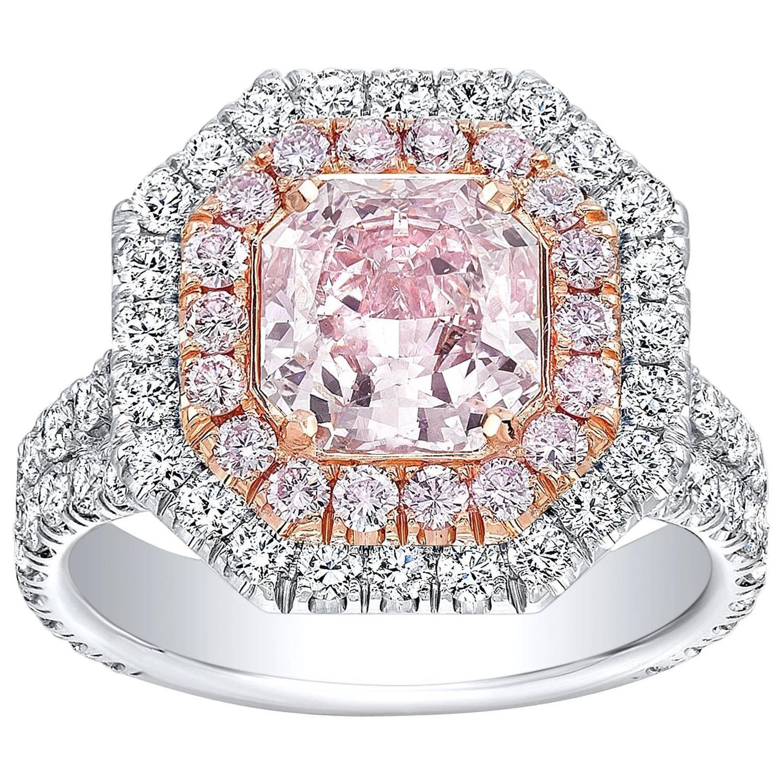 tamir gia certified 1 92 carat light pink diamond two color gold