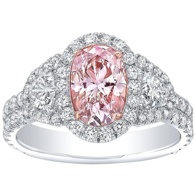 Tamir GIA Certified 1.19 Carat Fancy Brown Pink Diamond Two Color Gold Ring