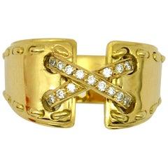 Hermès Diamond Gold Ring