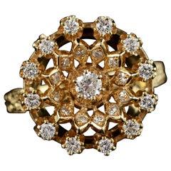 Diamond Gold Halo Ring