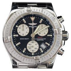 Breitling Stainless Steel 200m 660ft Dive Colt Chronograph Quartz Wristwatch