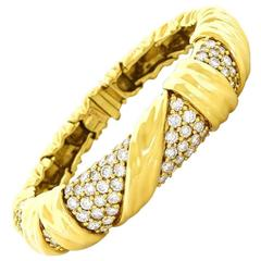 Fabulous Jose Hess Diamond-Set Gold Bracelet
