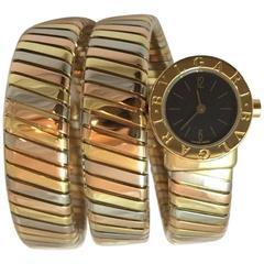 Bulgari Ladies Three Color Gold Serpenti Tubogas Quartz Wristwatch