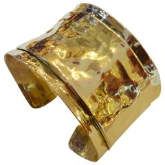 Michael Kneebone Folded Gold Cuff Bracelet