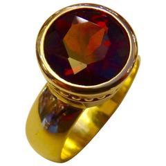 Rhodolite Garnet Gold Leah Ring