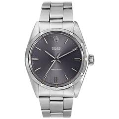 Rolex Stainless Steel Oyster Precision Manual Wind Wristwatch