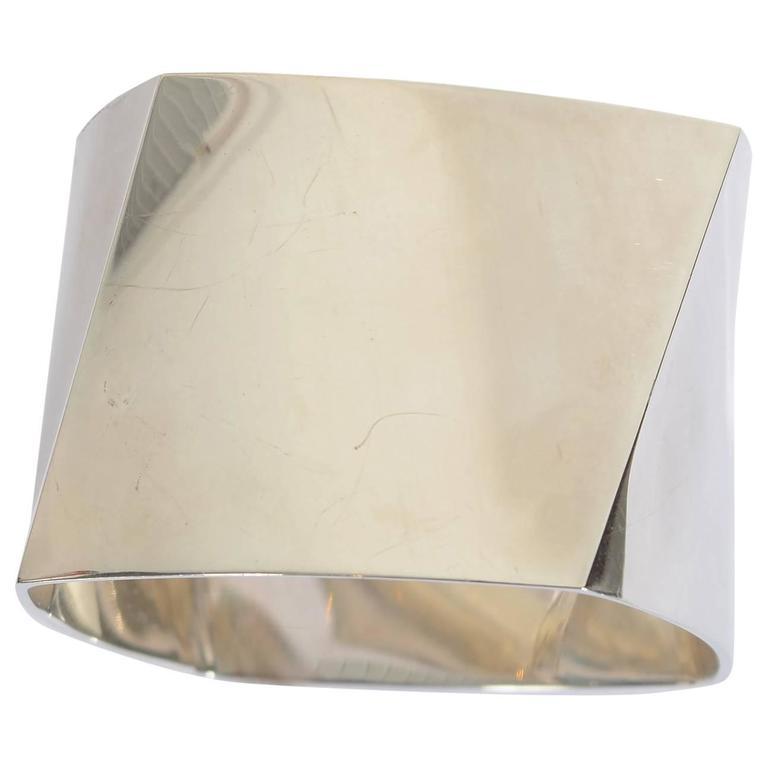 Tiffany & Co. Frank Gehry Sterling Silver Torque Bangle Bracelet
