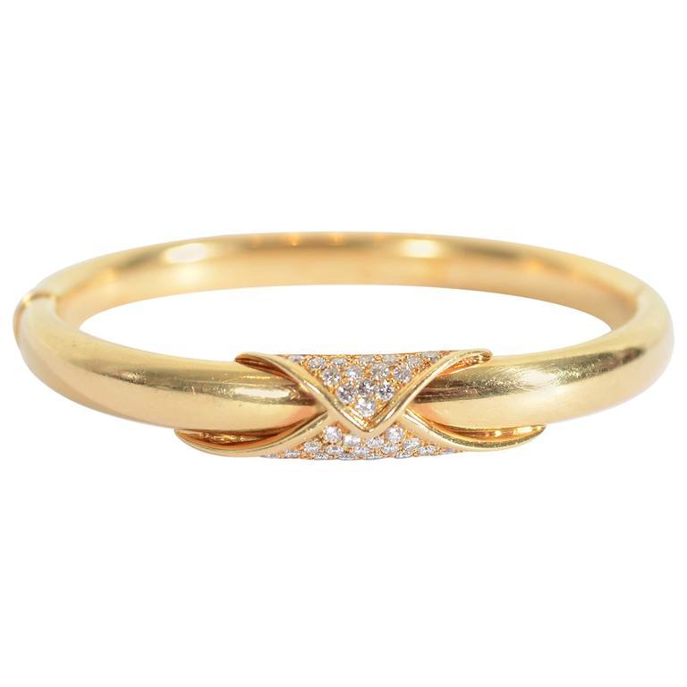 Birks Diamonds Gold Bangle Bracelet
