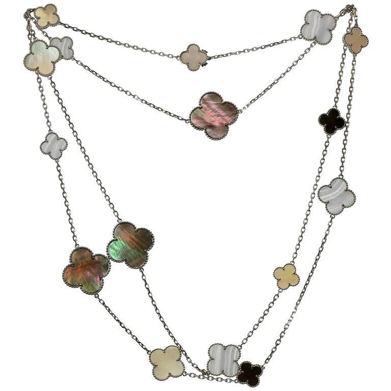Van Cleef & Arpels Magic Alhambra Gold 16 Motif Long Necklace 1