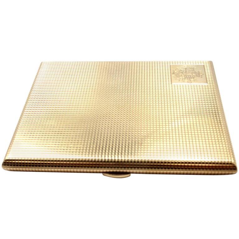 Antique English Gold Cigarette Holder Case