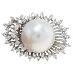 Luise Pearl Diamonds Gold Crown