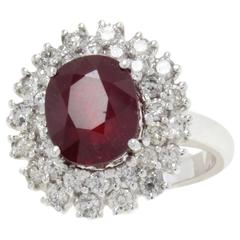 Ruby Diamonds White Gold Ring