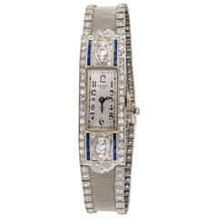 Shreve & Co. Ladies Platinum Diamond Wristwatch