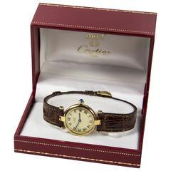 Cartier Ladies Must de Cartier Vermeil Sterling Silver Argent Quartz Watch