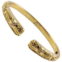 Temple St. Clair Diamonds Gold Nomad Bella Bangle Bracelet