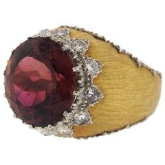 Mario Buccellati Large Tourmaline Gold Ring