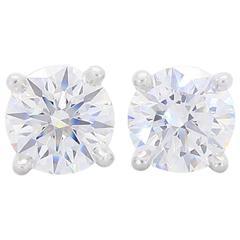 Tiffany & Co. Diamond Platinum Stud Earrings