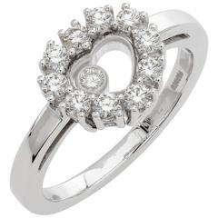 Chopard 0.39 Carat Diamonds White Gold Happy Heart Ring