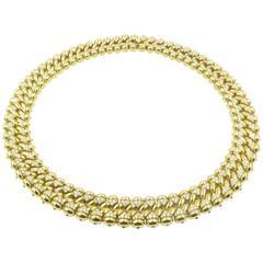 1980s Bulgari  Diamond gold Choker Necklace.
