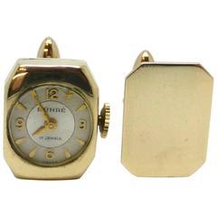 "Unusual Pair of Art Deco ""Watch"" Cufflinks"