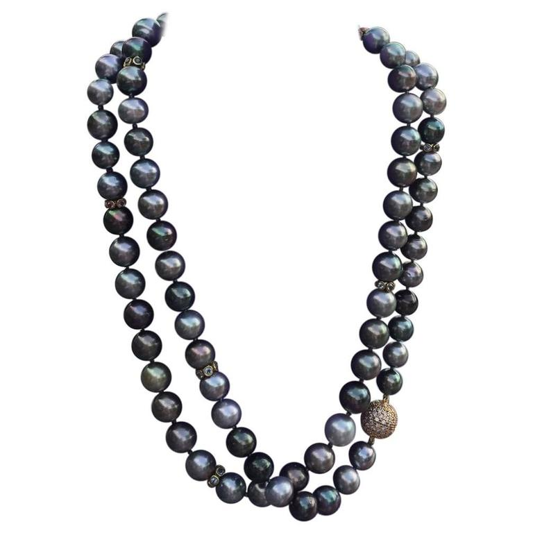 Tahitian Pearl Rope Necklace 1