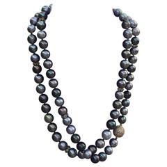 Tahitian Pearl Rope Necklace