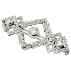 Diamond & Platinum Brooch