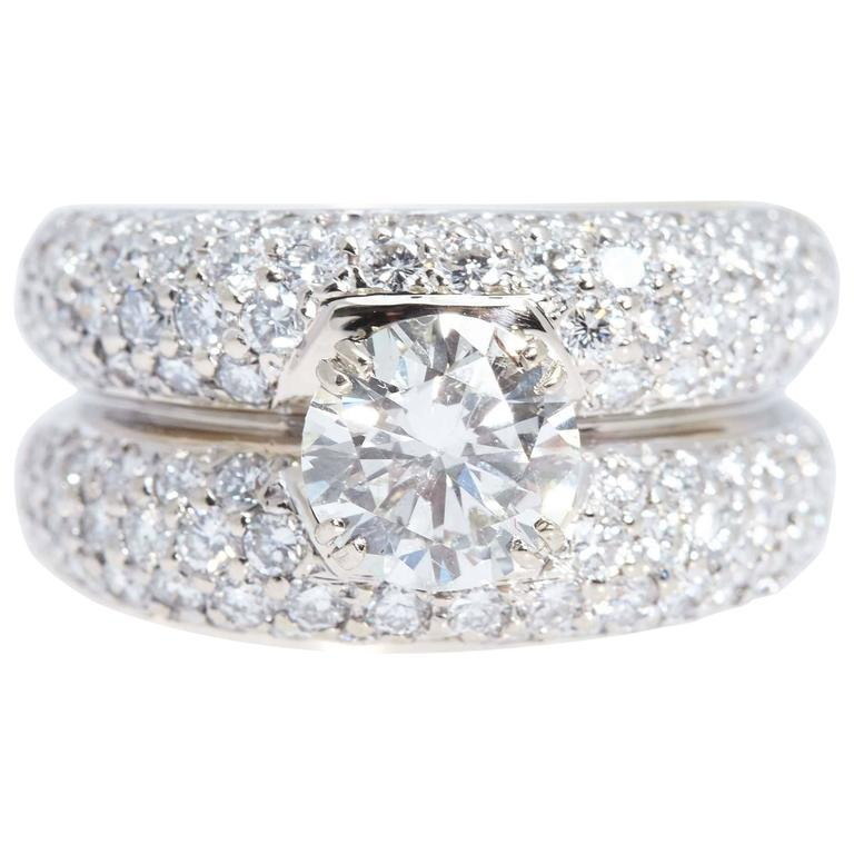 Diamond Double Gold Band Ring