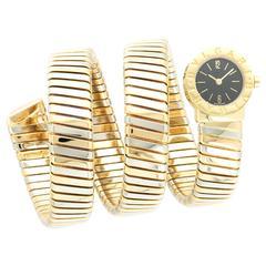 Bulgari Tricolor Gold Serpenti Tubogas Snake Wristwatch