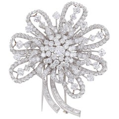 Incredible Circa 1930s Estate Diamond Brooch