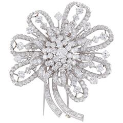 Incredible Circa 1930s Estate Diamond Brooch