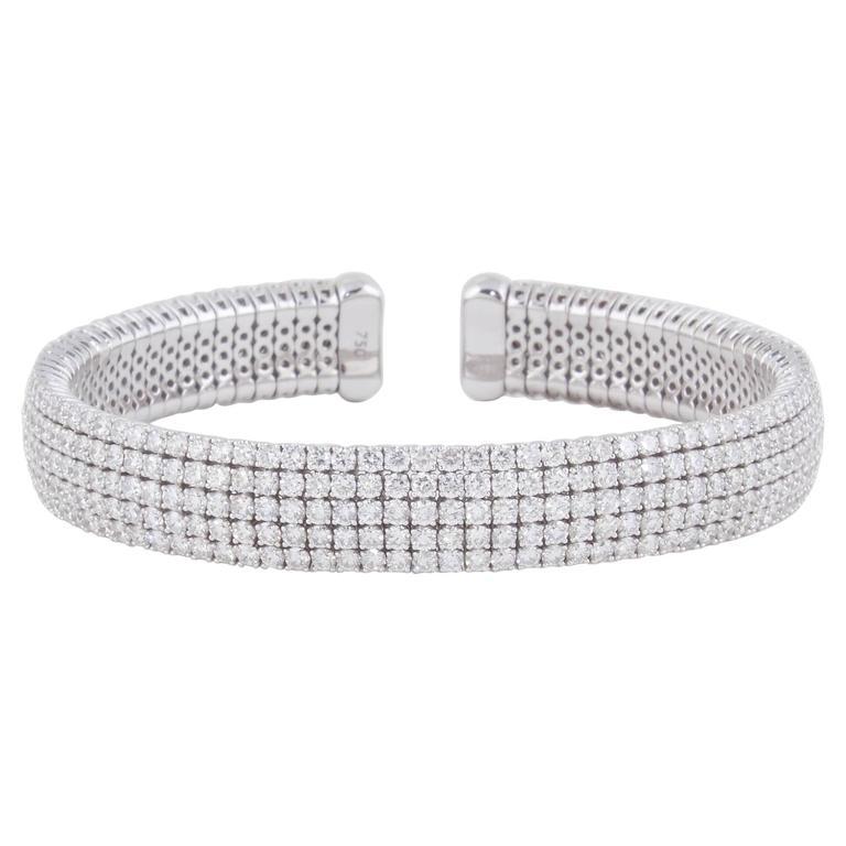Diamond Scene Fabulous Diamond gold Cuff Bracelet