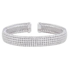 Diamond Scene Fabulous Diamond gold Cuff Bracelet