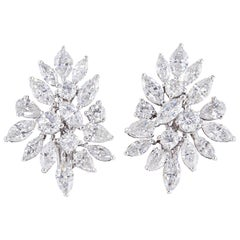 Classic Diamond Cluster Earrings