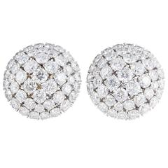 Diamond Scene Beautiful Diamond Gold Dome Earrings