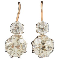 Victorian Diamond Twin Drop Earrings