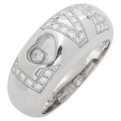 Chopard Happy Love Diamond Ring 0.29 Carat 18 Karat White Gold