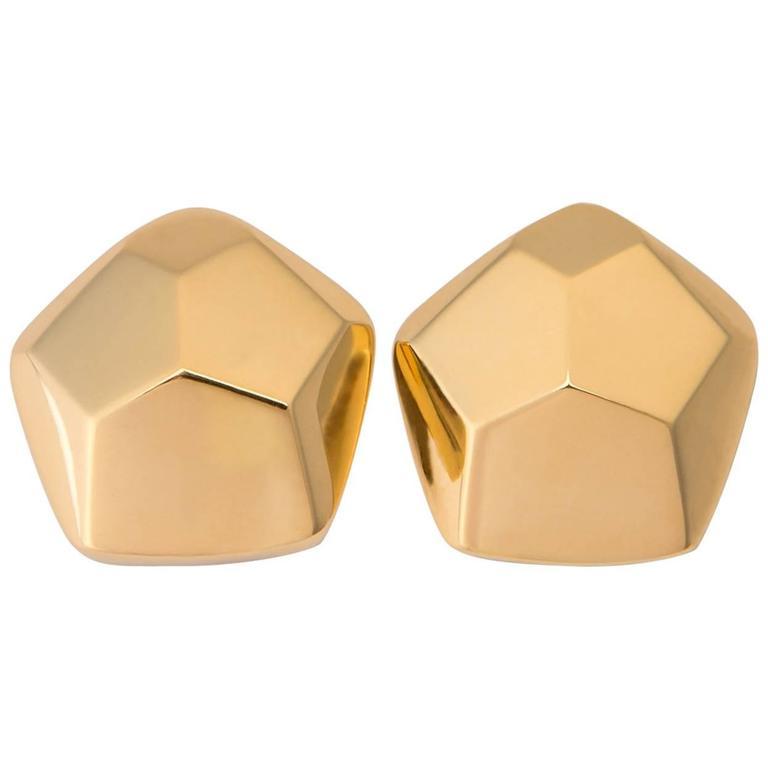 Tiffany & Co. Gold Modernist Earrings