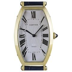 Cartier Gold Tonneau Cintree Wristwatch