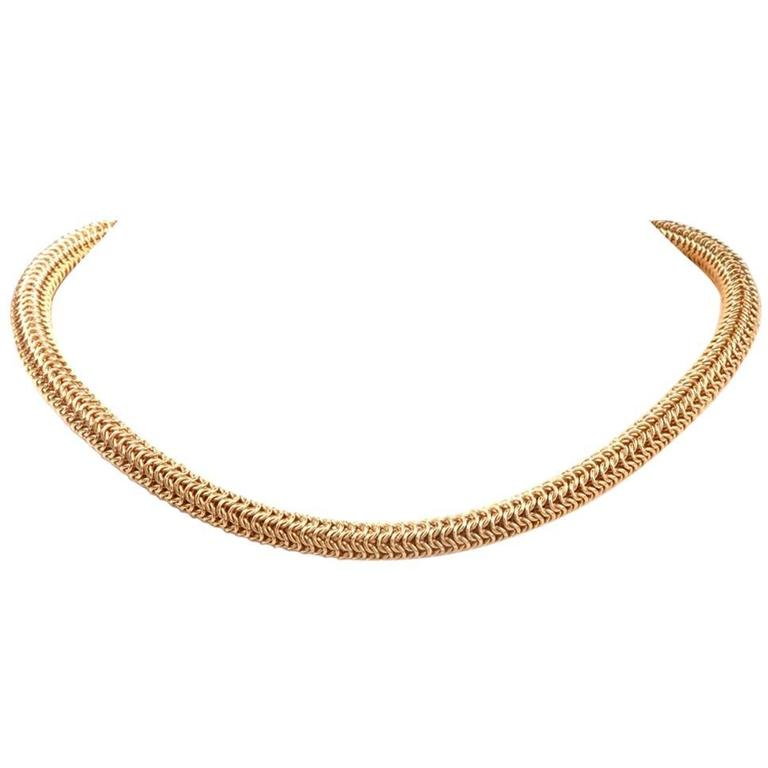 1980s Tiffany & Co. Diamond gold Choker Necklace