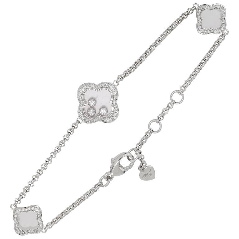 Chopard Happy Diamonds Bracelet 18k White Gold and Diamonds 0.61 ct.