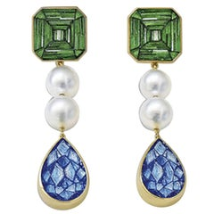 Sicis Falso Vero Pearl Micromosaic Earrings