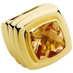 Colleen B. Rosenblat Citrine Gold Ring
